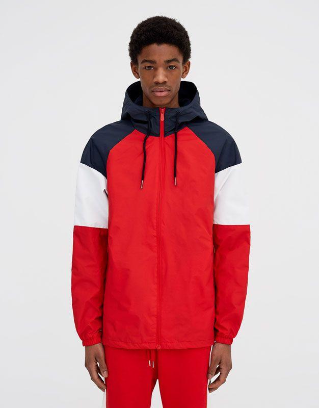 Hooded colour block jacket. - Jackets - Coats and jackets ...
