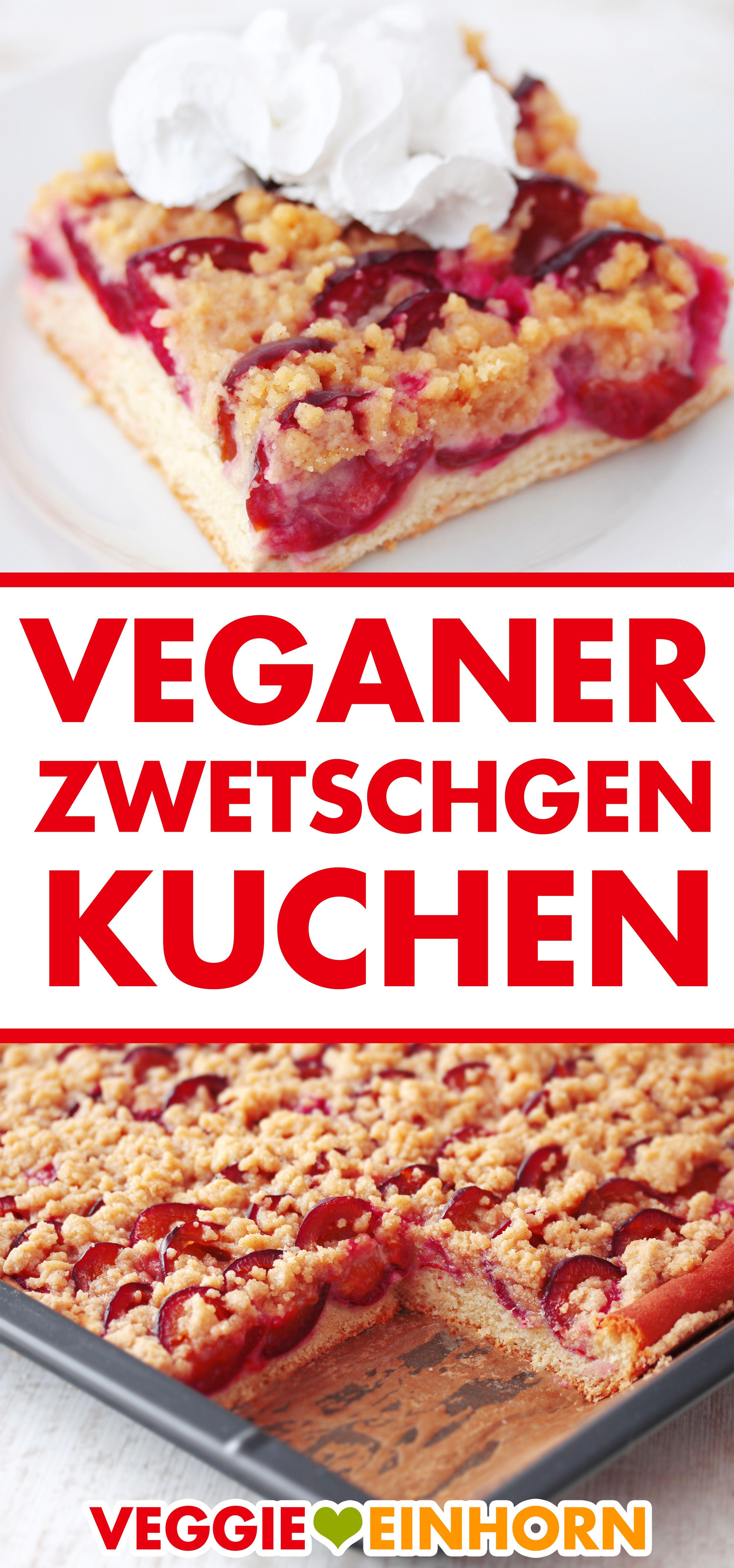 Saftiger veganer Zwetschgenkuchen vom Blech ᐅᐅᐅ Kuchen backen im Herbst ᐅ