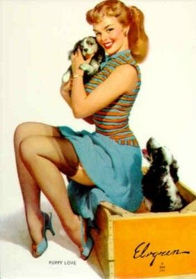 1950's Pin Up Girl - the naughty wholesome girl was a popular ...