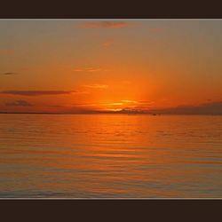 zonsondergang gemaakt door Edwin, Markermeer bij dijk Lelystad Enkhuizen