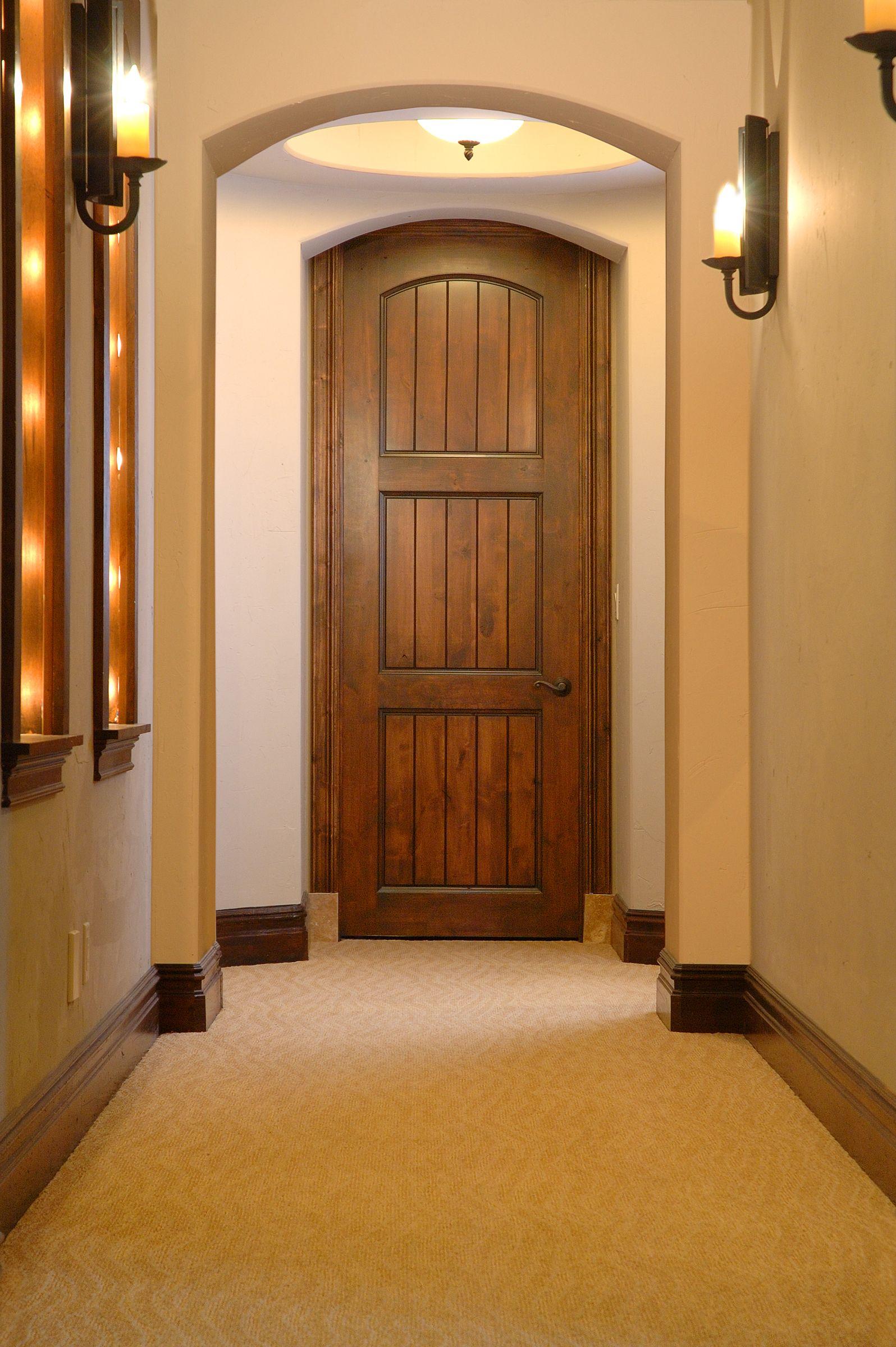 delightful mediterranean interior doors #2: Angelica Mediterranean Interior Door (Top Rail Arch, C2, 3-Panel Plank,