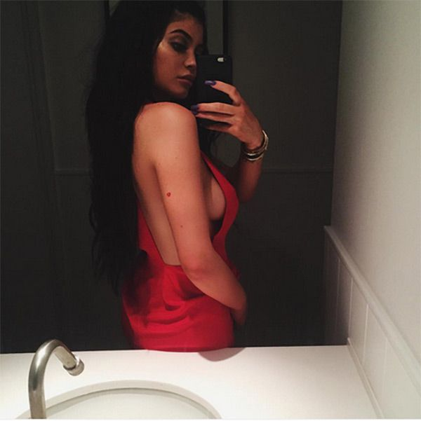 Kylie Jenner Flaunts Major Side Boob In Sexy Red Dress — SeePic