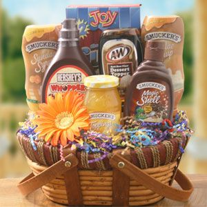Ice cream basket idea handmade gifts pinterest basket ideas ice cream basket idea add in a gift certificate to local dairy negle Images