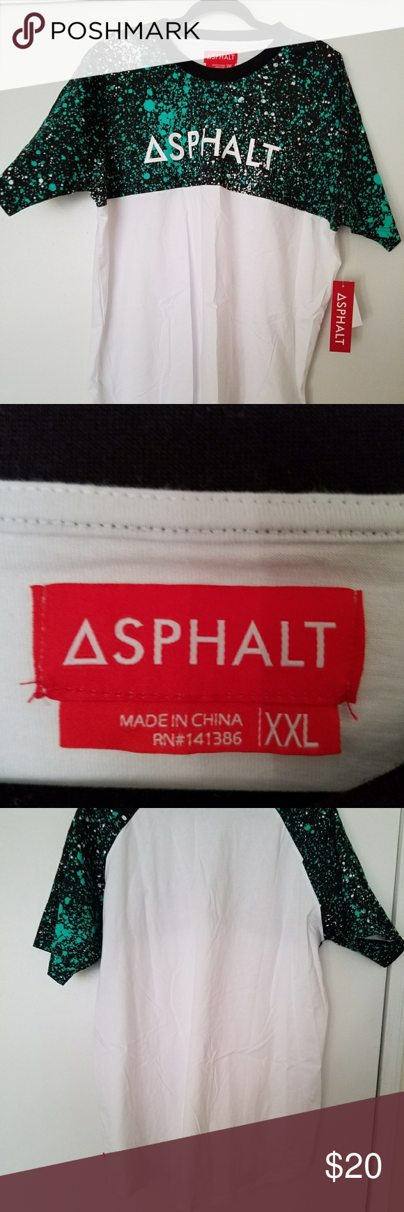 NWT Asphalt Tee NWT never worn,very comfortable,100% cotton. Asphalt Yacht Club Shirts Tees - Short Sleeve
