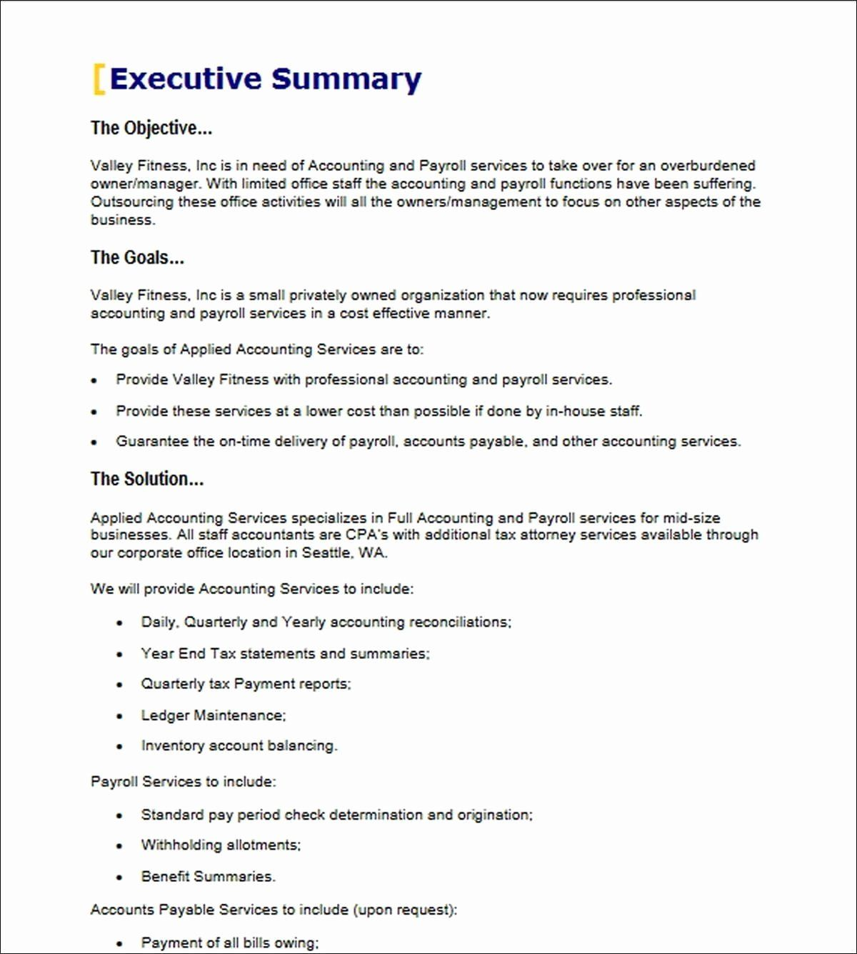 40 Executive Summary Sample for Proposal in 2020