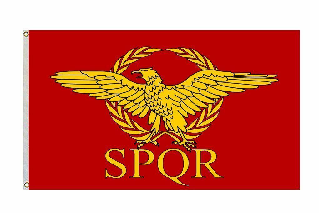 Spqr Roman Empire Senate And People Of Rome Flag Size 3x5 Feet Banner Man Cave Ancient Symbols Roman Empire Ancient Romans