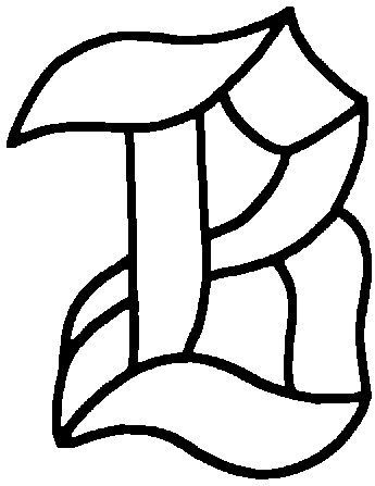 GLASS LETTER PATTERN STAINED Free Patterns Glass Inspirations Adorable Free Stained Glass Patterns