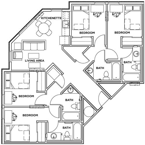 The Callaway House Austin Callaway House Architectural Floor Plans Modern House Plans