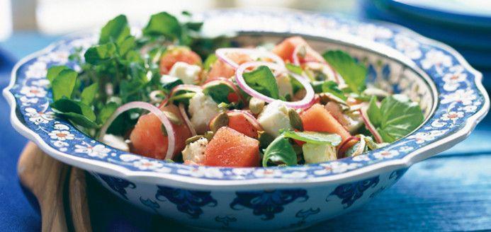 Tres rafraichissant: Salade de melon d'eau et de féta Recettes | Ricardo