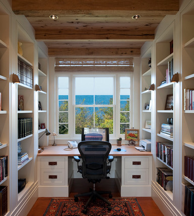 Ocean View Home Office Via Houzz Www Cdgdesign Com Home Office Layouts Home Office Design Home Office Furniture