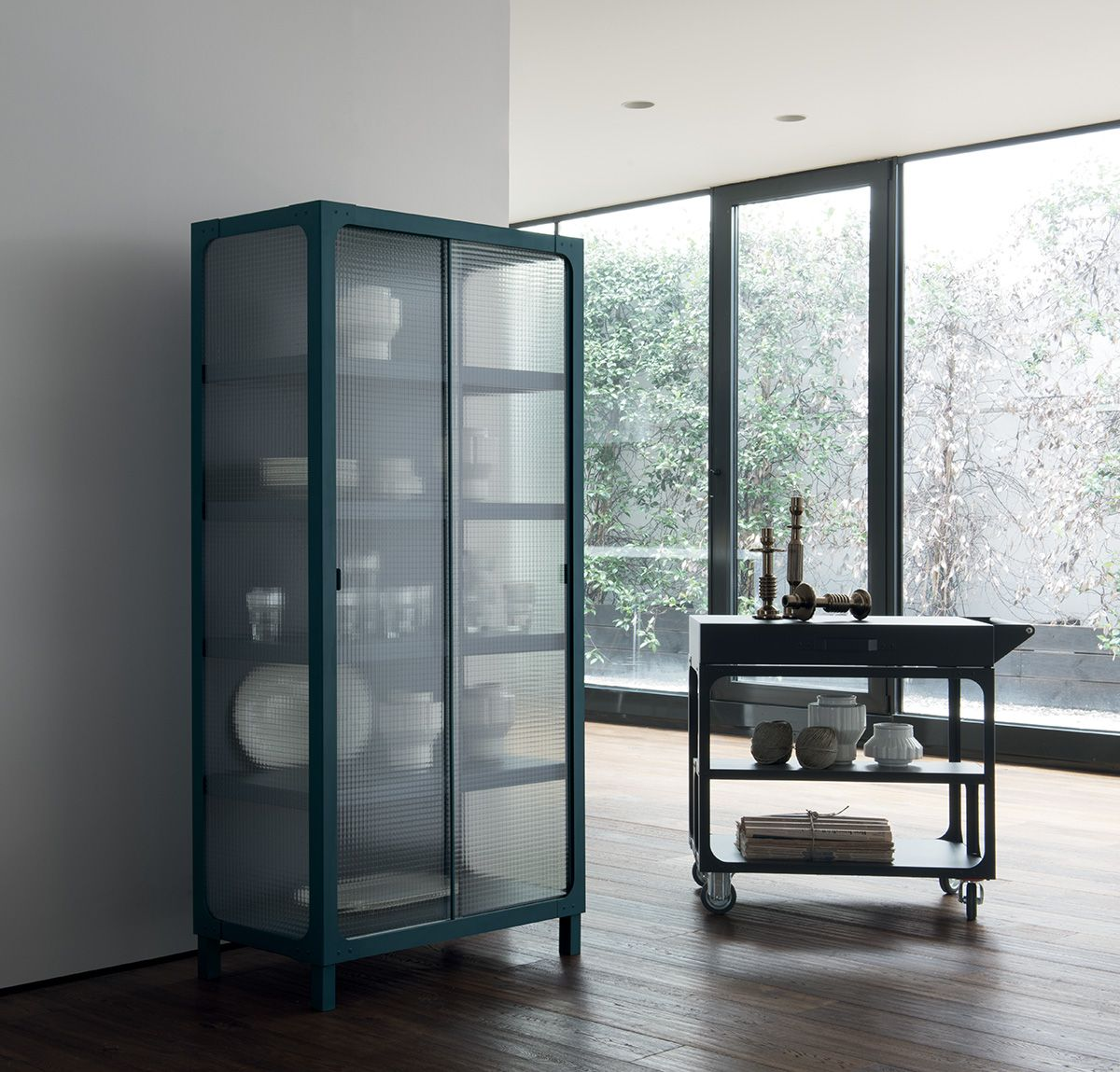 Contamination is the keyword in a version with a wire glass door in ...