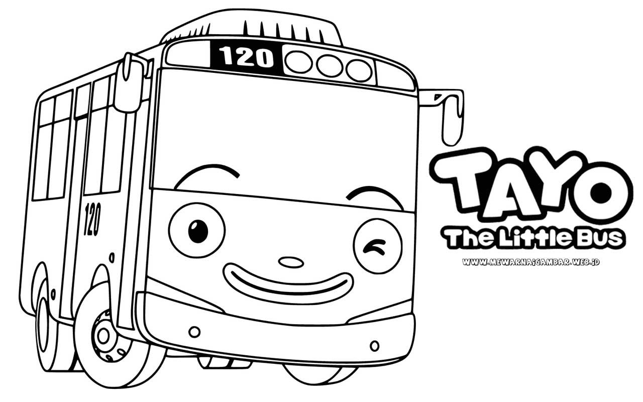 Tayo The Little Bus Pokemon Coloring Coloring For Kids Coloring Pages Children