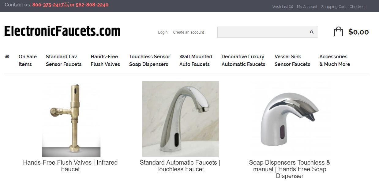 Electronic Faucets offers The World\'s Finest Selection of Designer ...