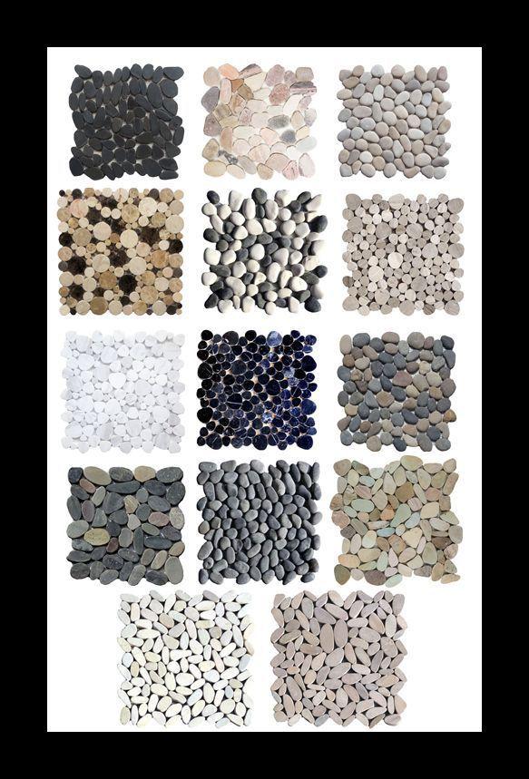 flusskiesel mosaik bord re wei grau schwarz holzoptik. Black Bedroom Furniture Sets. Home Design Ideas