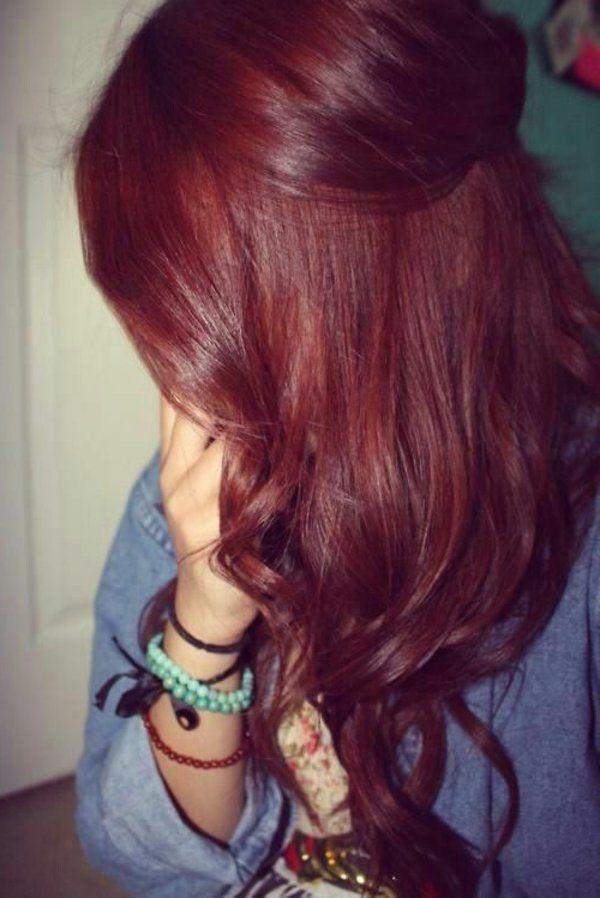 Style de couleur de cheveux rouge