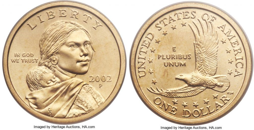 2002 P Sacagawea Dollar Value Coin Helpu Sacagawea Dollar Sacagawea Dollar
