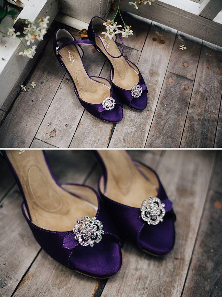 2019 Designer Wedding Dresses Bridal Gowns Purple Wedding