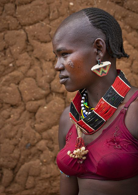 Ethiopia. Hamar Tribe Girl with Colourful Necklaces, Turmi, Omo Valley, | Flickr by eric lafforgue