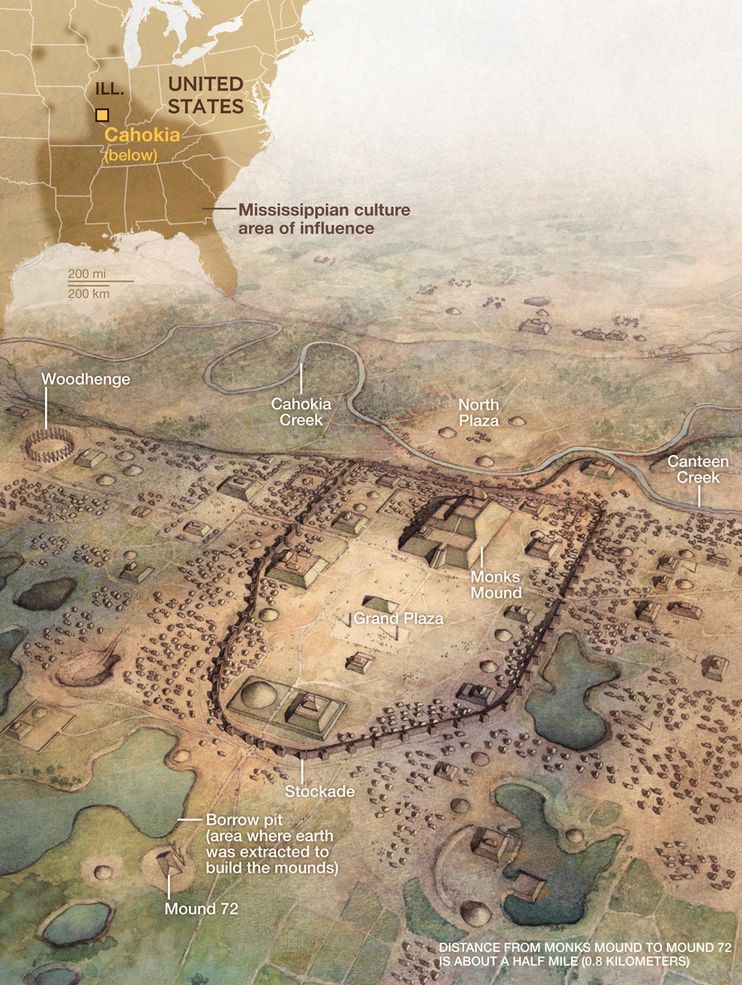 Study Says Cahokia Americas First City Was A Melting Pot - United states map with cities