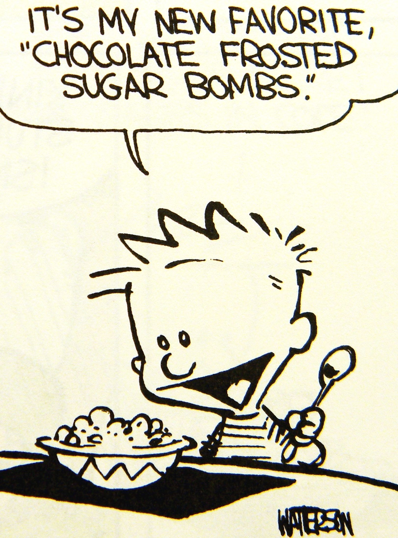 Calvin and Hobbes, Chocolate Frosted Sugar Bombs