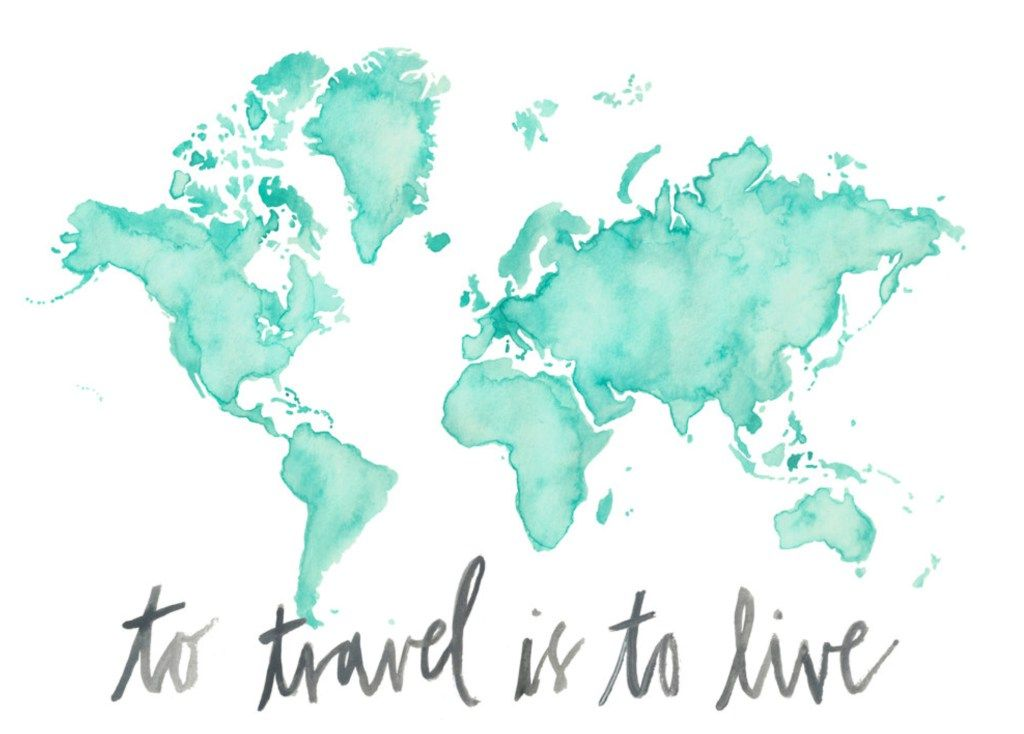 To travel is to live top 5 places i want to visit celinaloves world map print por poppyandpinecone en etsy gumiabroncs Gallery