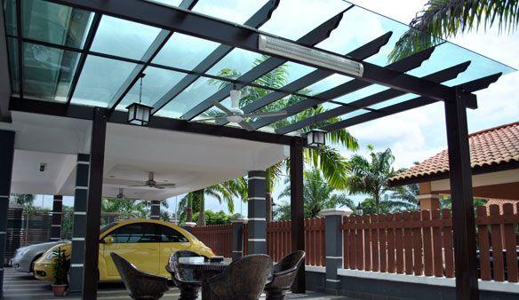 Pergola supercool pergola skylight roof tiles for Glass roof design