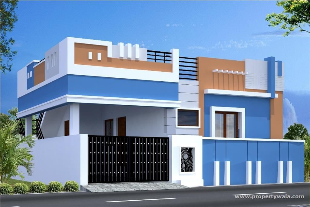 Front Elevation Of A Domestic Plan Is A Immediately On View Of The Place Of Abode As In Case Small House Front Design House Front Design Small House Exteriors