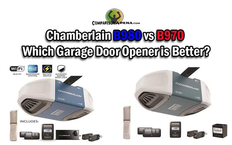 Chamberlain B980 Vs B970 Which Garage Door Opener Is Better In