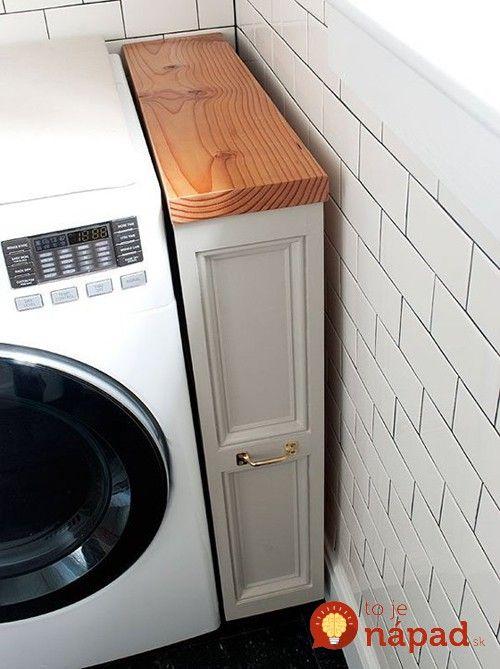Genialne Napady Ktore Vam Usetria Priestor V Byte Laundry Room