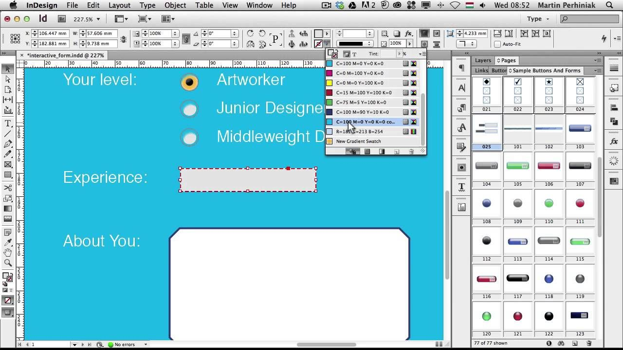 How To Create Interactive Forms With Adobe Indesign Indesign Adobe Indesign Tutorials Indesign Tutorials