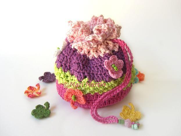 (4) Nombre: 'Crocheting: ganchillo del monedero del bolso colorido de las muchachas