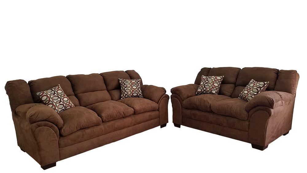 Delta Sierra Chocolate Sofa Loveseat Set Sofa And Loveseat Set Loveseat Sofa Leather Sofa And Loveseat