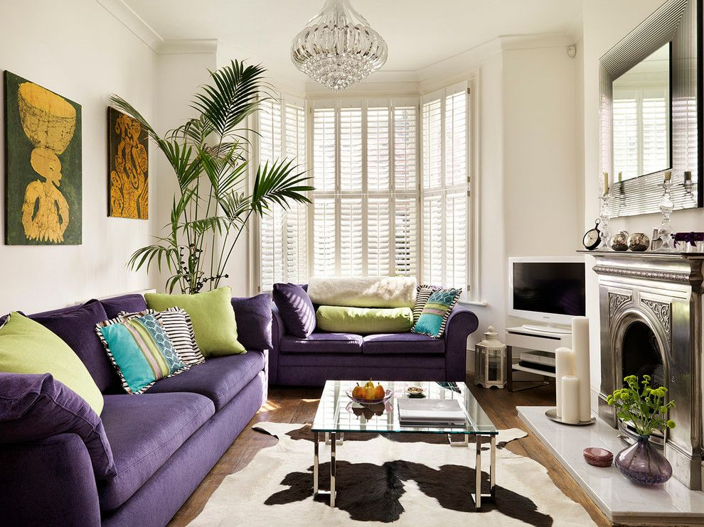 Bay window shutters living room traditional with bay - Living room with bay window ...