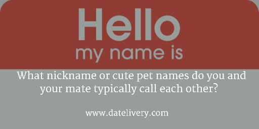 pet names for couples