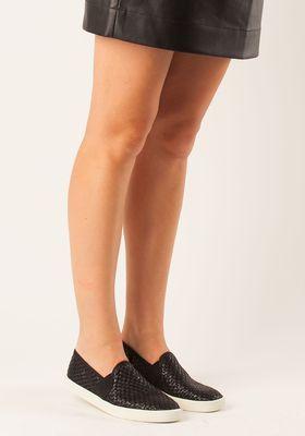 56fb1eed3a74 Vince - Preston Slip-on Sneaker Black Leather - Jildor Shoes ...