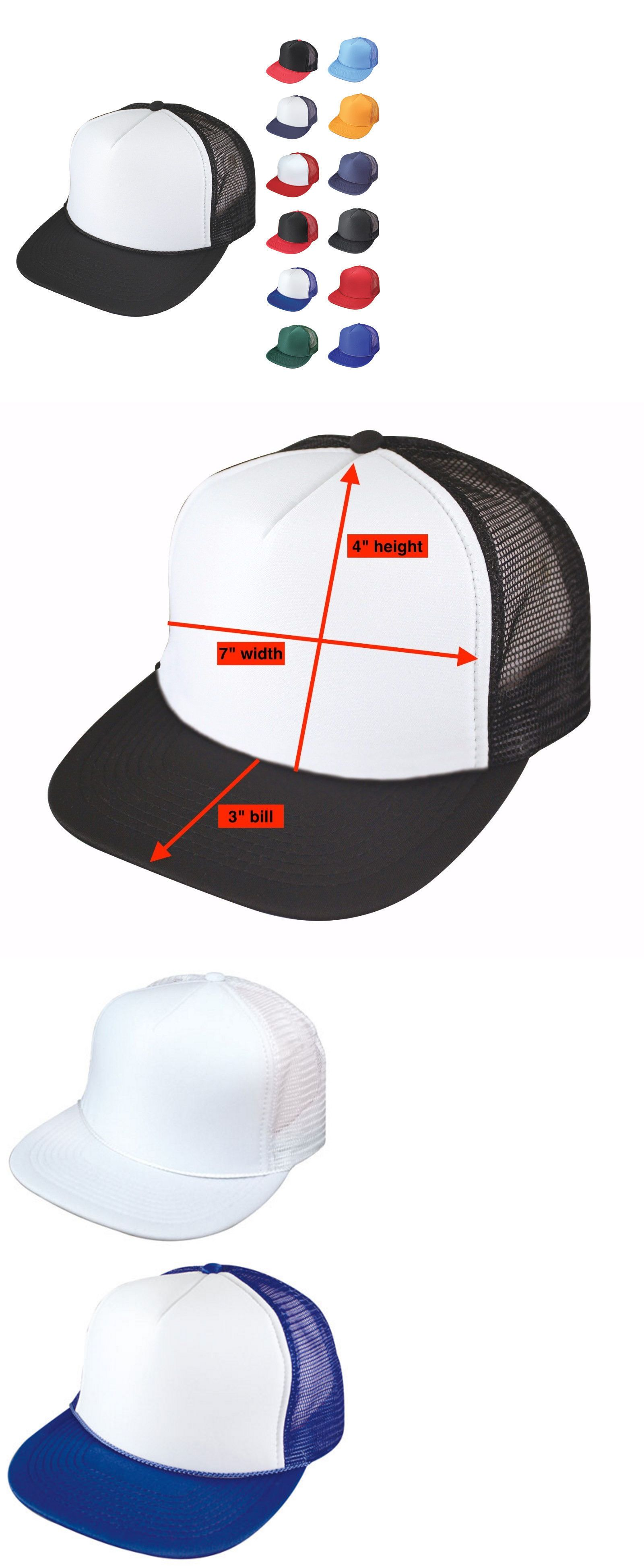 c0ce6e19 Mens Accessories 45053: 1 Dozen Flat Bill Blank 5 Panel Mesh Foam Trucker  Baseball Hats