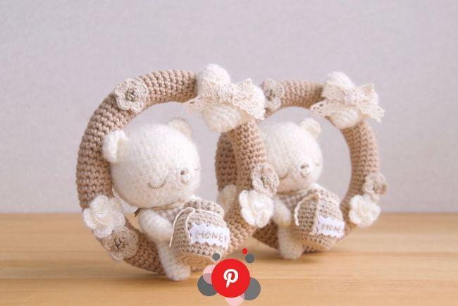 Photo of Have sweet dreams Crochet wreath, sweet dreams, baby rattle Have sweet dreams …