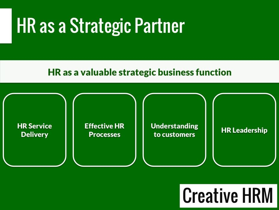 Hr as a strategic business partner hr and work