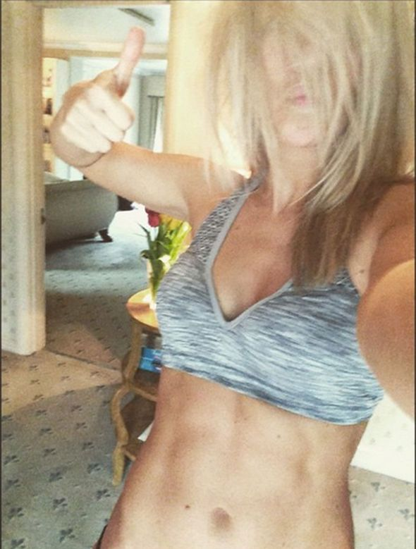 Chloe Madeley flashes abs on Instagram