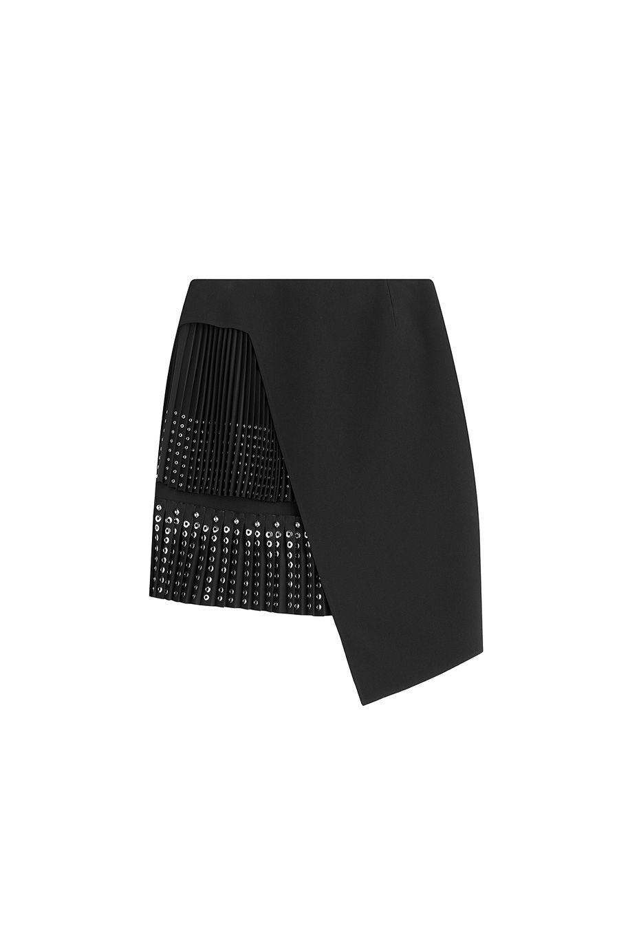 ANTHONY VACCARELLO Asymmetric Skirt With Eyelets. #anthonyvaccarello #cloth #cocktail & party