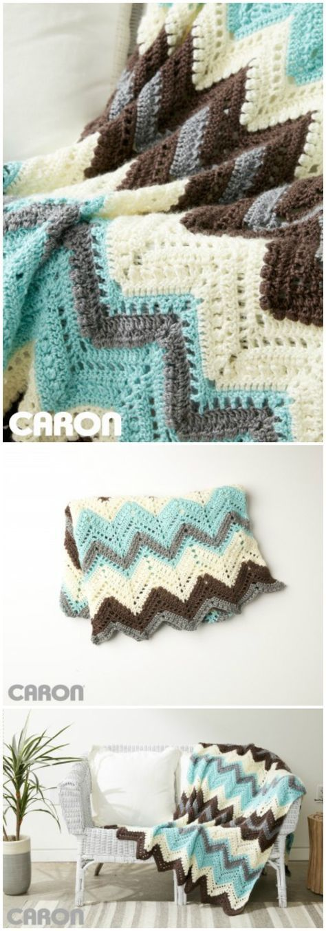 Free Crochet Blanket Patterns – Free Patterns | Ripple and Chevron ...