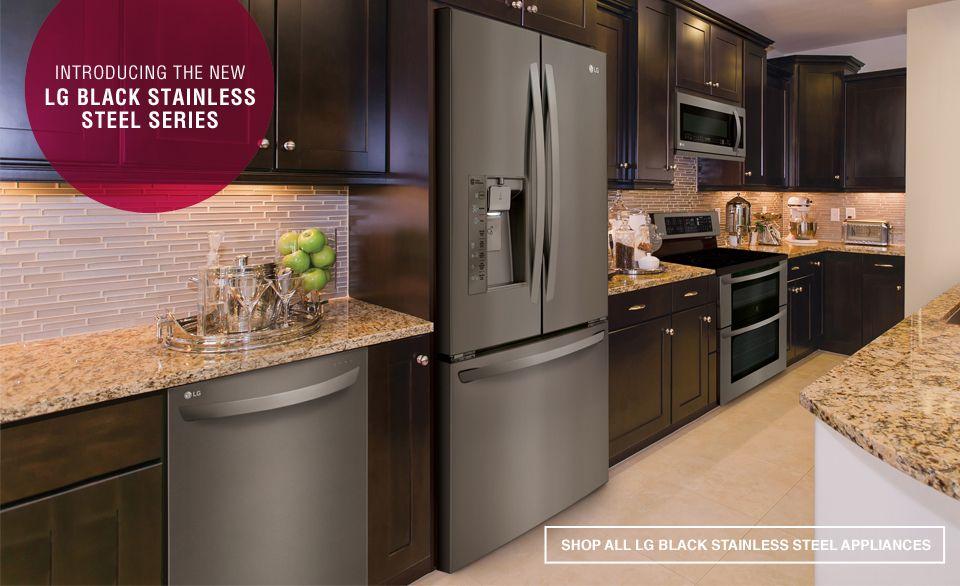 Lg Black Stainless Steel Black Stainless Steel Appliances Black Stainless Steel Kitchen Stainless Steel Kitchen Appliances