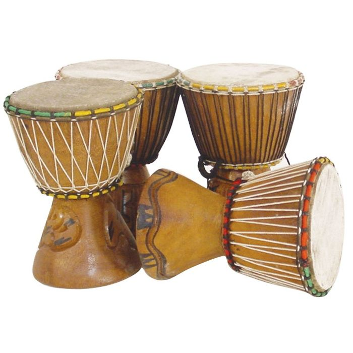"Miniature African Djembe Drum $29 (8"" each)"