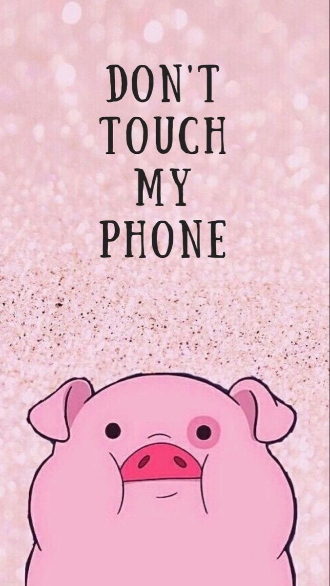 Super cute pig lockscreen for your iPhone - don't touch my phone!