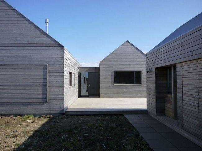 Moderne häuser satteldach holz  Borreraig Schottisches Haus Design-Traditionale Bauweise ...
