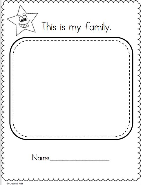 Draw My Family Worksheet - Madebyteachers Family Worksheet, My Family  Worksheet, Family Activities Preschool