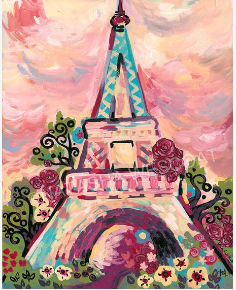 Exceptionnel Tour Eiffel Paris Wescoat   à la manière de Wescoat   Pinterest  NR38