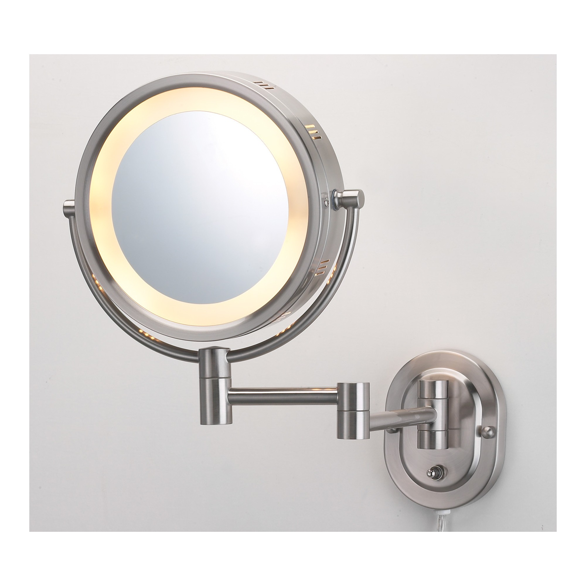 Jerdon 5x1x Direct Wire Halo Lighted Wall Mirror Double