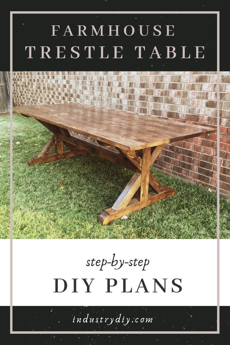 Photo of Farmhouse Trestle Table Plans