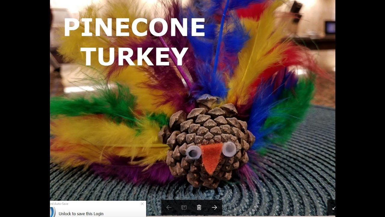 Pinecone Turkey Craft